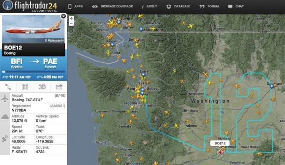 Seattle Seahawk Team 747 Flight